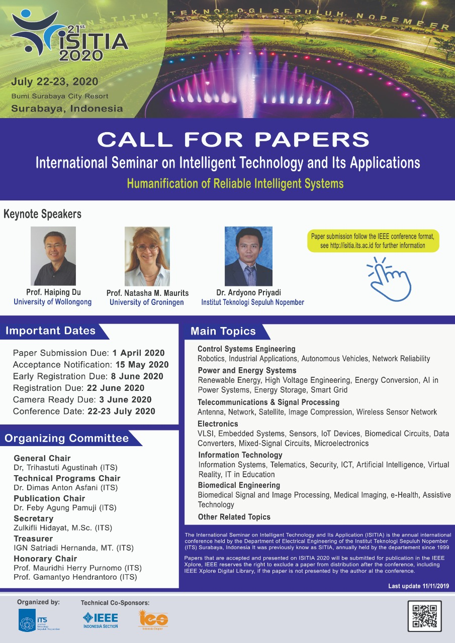 Call For Paper Isitia 2020